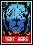 Lion polychrome illustration de vecteur