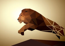 Lion polygonal geometric, pattern design Royalty Free Stock Images