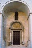 Lion Portal. St. Nicholas Basilica. Bari. Apulia. Royalty Free Stock Image