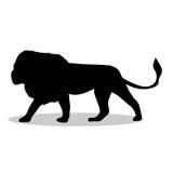 Lion predator black silhouette animal. Vector Illustrator Stock Photo