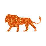 Lion predator color silhouette animal. Vector Illustrator Stock Images