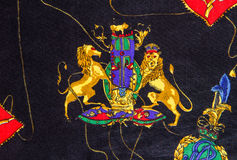 Lion print fabric. Illustration of lion print on fabric stock images