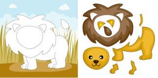 Lion puzzle Stock Images