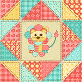 Lion quilt pattern Stock Photos