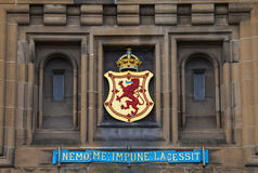 Lion Rampant Crest at Edinburgh Castle Stock Photography