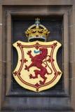 Lion Rampant Crest at Edinburgh Castle Royalty Free Stock Photos