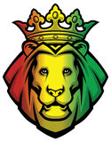 Lion rasta head Stock Photo
