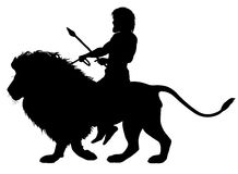 Lion rider Royalty Free Stock Images