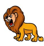 Lion Roar cartoon illustration Stock Image