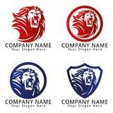 Lion Roar Concept Logo Imagenes de archivo
