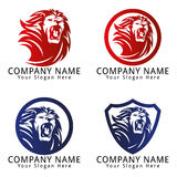 Lion Roar Concept Logo Stock Images