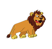 Lion roaring. Cartoon illustration of a lion roaring Royalty Free Stock Images