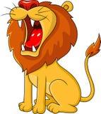 Lion roaring. Illustration of lion roaring isolated on white vector illustration
