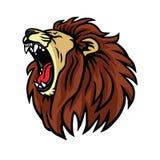 Lion Roaring Logo Design Vector lizenzfreie abbildung