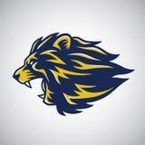 Lion Roaring Logo Mascot. Design Template Royalty Free Stock Photos