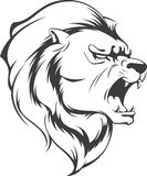 Lion Roaring Vector Silhouette. A vector image of a roaring lion vector. This vector is very good for design that needs lion head vector element or design stock illustration