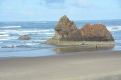 Lion Rock av av den Oregon kusten royaltyfri foto