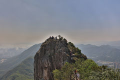 Lion Rock berg i Hong Kong royaltyfri foto