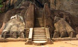 Lion Rock Fortress i Sigiriya, Sri Lanka arkivbilder