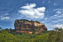 Lion Rock fortress. Sigiriya Lion Rock Fortress in Sri Lanka, known as the lion rock and the fortress in the sky Stock Images