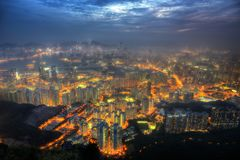 Lion Rock Hong Kong arkivbild