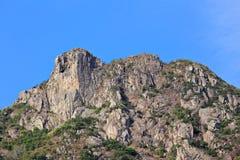 Lion Rock, lion like mountain. In Hong Kong, one of the symbol of Hong Kong spirit stock image