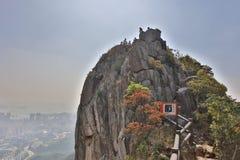 Lion rock mountain in Hong Kong. The Lion rock mountain in Hong Kong at 2017 stock photo