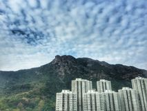 Lion Rock Mountain. Nice sky with Lion Rock Mountain Stock Photography