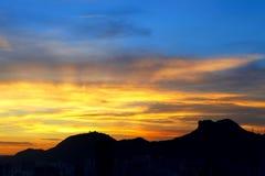 Lion Rock mountain. During sunset royalty free stock image