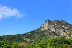 Lion Rock mountain. With sunshine stock photo