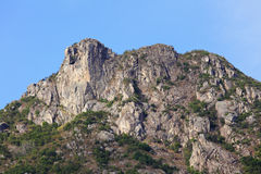 Lion Rock moutain, symbol of Hong Kong spirit Royalty Free Stock Photo