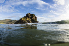 Lion Rock, Piha, Auckland, NZ Royalty Free Stock Photo