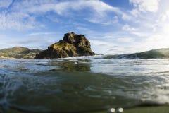 Lion Rock, Piha, Auckland, NZ royalty free stock photo