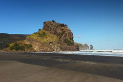 Lion Rock Piha Stock Photo
