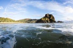 Lion Rock, Piha norte, Nova Zelândia Foto de Stock Royalty Free