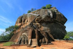 Lion Rock - Sigiriya - Sri Lanka stock photography