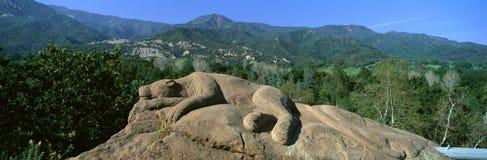 Lion Rock Sculpture, Center for Earth Concerns, Ojai, California Stock Photography