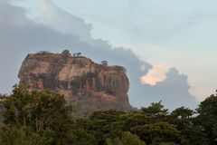 Lion Rock of Sigiriya in Sri Lanka Stock Photo
