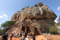 Lion Rock of Sigiriya in Sri Lanka Royalty Free Stock Photos