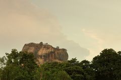 Lion Rock of Sigiriya in Sri Lanka Royalty Free Stock Photography