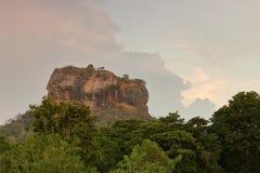 Lion Rock of Sigiriya in Sri Lanka Stock Images