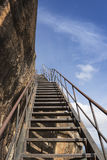 Lion Rock staircase of  Sigiriya,Sri Lanka Royalty Free Stock Image