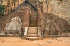 Lion rock statue in Sigiriya Royalty Free Stock Image