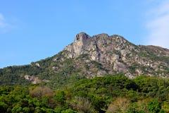 Lion Rock symbol av den Hong Kong anden royaltyfri fotografi