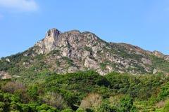 Lion Rock symbol av den Hong Kong anden arkivbilder