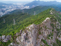 Lion Rock Top Shoot. Lion Rock, or less formally Lion Rock Hill, is a famous hill in Hong Kong. It is located between Kowloon Tong in Kowloon and Tai Wai in the Royalty Free Stock Photography