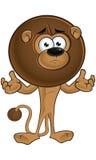 Lion With Round Mane - confuso illustrazione di stock