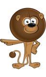 Lion With Round Mane - indicando illustrazione vettoriale