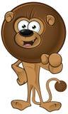 Lion With Round Mane - indicando in avanti royalty illustrazione gratis