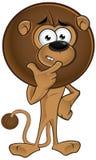 Lion With Round Mane - pensando royalty illustrazione gratis
